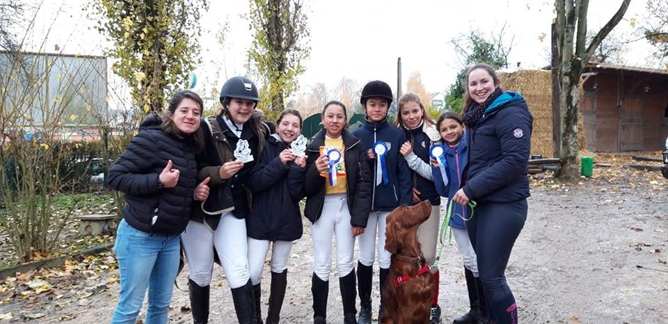 Félicitations aux cavalières de Mareuil